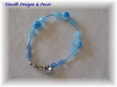Child's Blue Bracelet-children, bracelet, jewelry, blue, 