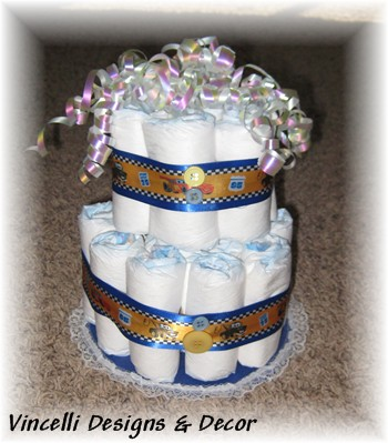 Diaper Cake - 2 Tier - Disney's CARS