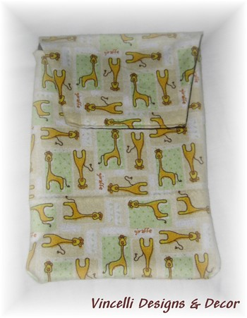 Diaper & Wipe Cloth Travel Pouch - Giraffe