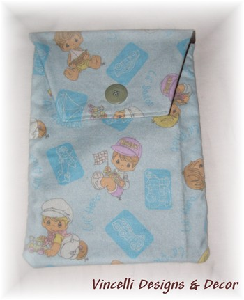 Diaper & Wipe Cloth Travel Pouch - Blue Precious Moments