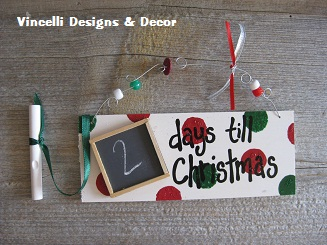 Countown to Christmas Plaque-christmas, days till christmas, chalk, chalkboard, holiday,