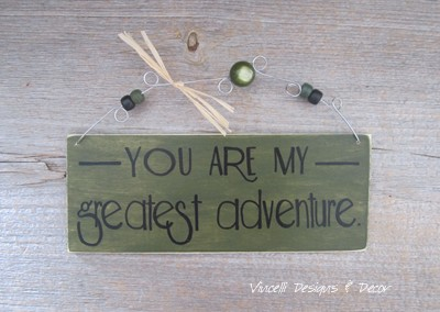 Wood Plaque Small - Greatest Adventure