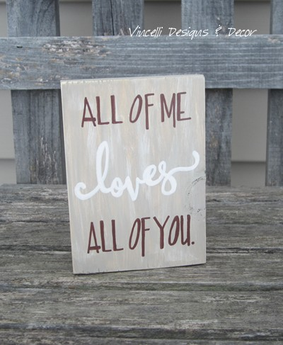 Word Block - All of me loves all of you.