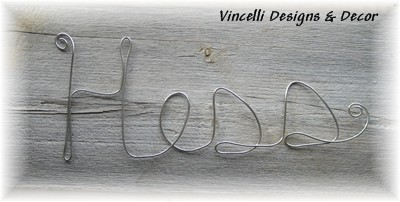 Aluminum Wire Word Art - Last Name