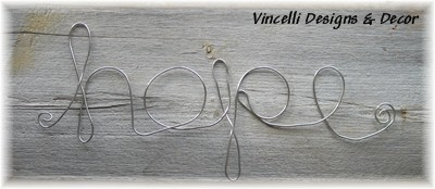 Aluminum Wire Word Art - Hope