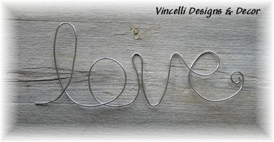 Aluminum Wire Word Art - Love
