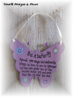 Butterfly Decoration - Be &quot;YOU-nique&quot;-butterfly, purple, girl, gift,