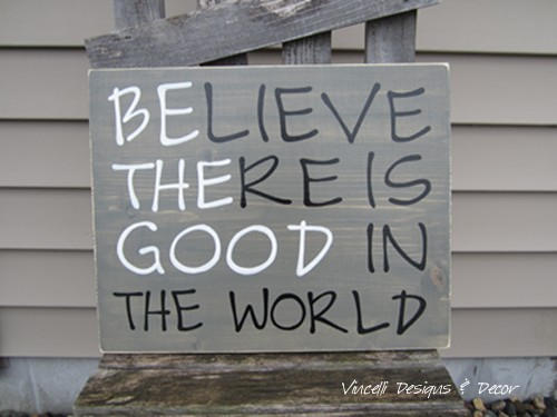 Wood Plaque - Be the Good - Gray