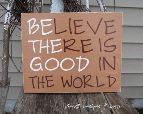 Wood Plaque - Be the Good - Brown