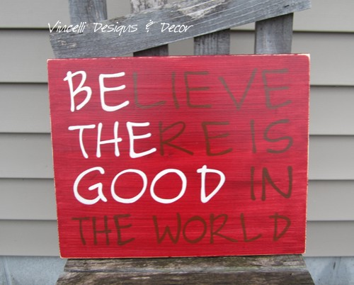 Wood Plaque - Be the Good - Maroon