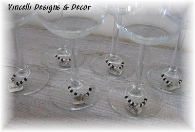 Wine Charms - Set of 6 - Inspirational Words