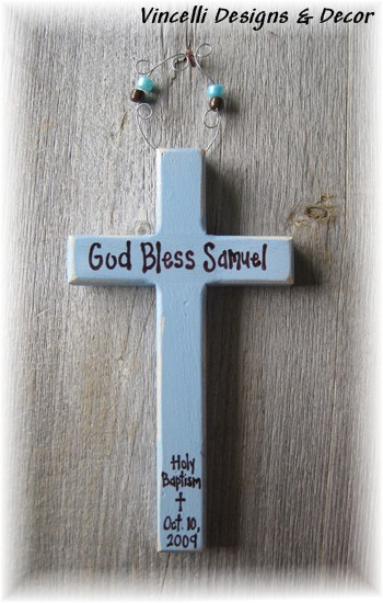 Baptism Cross - Blue-baby, blue, baptism, gift, boy,