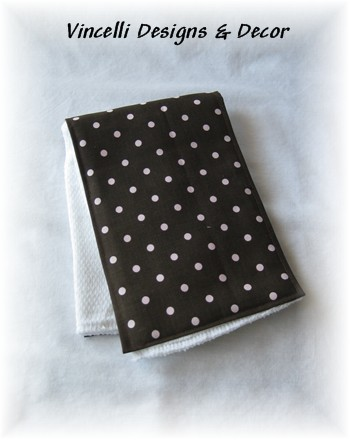 Burp Cloth - Brown w/ Pink Dots