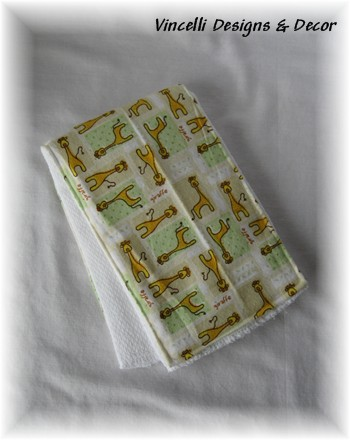 Burp Cloth - Giraffe