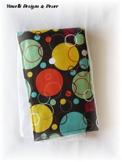 Burp Cloth - Brown with Circles