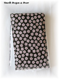 Burp Cloth - Pink Flowers