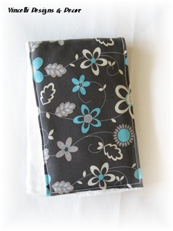 Burp Cloth - Gray & Blue Floral