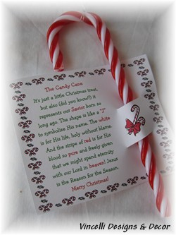 Candy Cane Ornaments - Set of 4