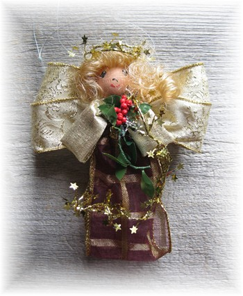 Angel - Gold-christmas, angel, merry christmas,