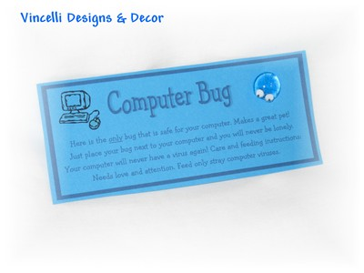 Computer Bug -  Set of 4-computer bug, bug, computer, geek