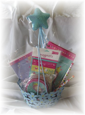 Fairy Gift Basket-fairy, gift basket, girl,