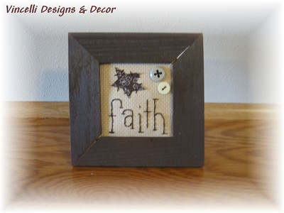 Embroidered Art in Frame - Faith-faith, embroidered, frame, gift, wooden,