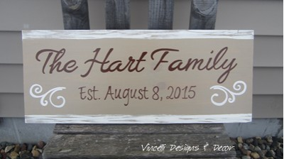 Wood Plaque - Family Established