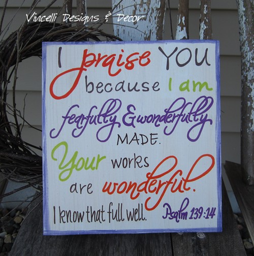 Wood Plaque - Fearfully & Wonderfully Made