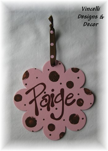 Flower Decoration - Pink & Brown