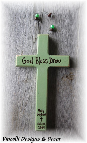 Baptism Cross - Green-baptism, green, boy, religious, baby,