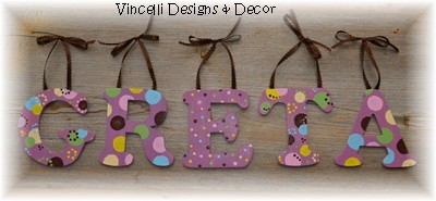 Wooden Letter Custom Wall Hangings - Purple
