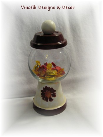 &quot;Gum Ball&quot; Machine - Maroon & Cream-gumball machine, gumball, gift, 