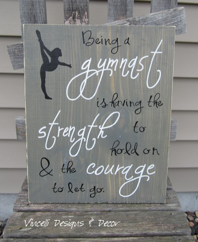 Wood Plaque - Gymnast 1