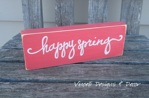 Word Block - Happy Spring