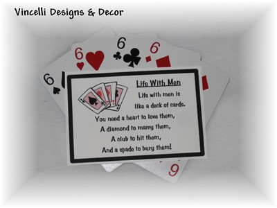 """Life With Men"" Magnets -  Set of 4"