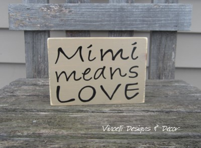 Word Block - Mimi Means Love