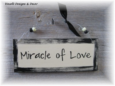 Handpainted Wood Plaque - Miracle of Love