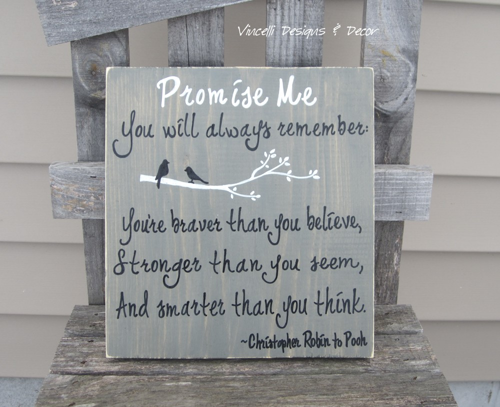 Wood Plaque - Promise Me