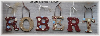Wooden Letter Custom Wall Hangings - Browns-child, baby, letter, wood, wooden, handpainted, gift, alphabet, name, wall hanging, brown,