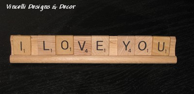 Scrabble Tile/Tray Words I LOVE YOU