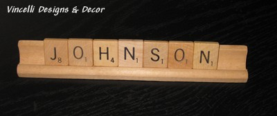 Scrabble Tile/Tray Words LAST NAME