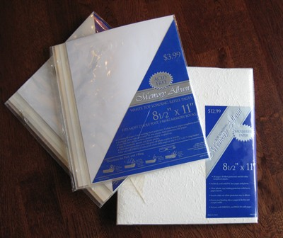 Scrapbook Mulberry 8.5&quot; x 11&quot; with 2 sets of 10 refill pages-scrapbook, mulberry, refill pages,