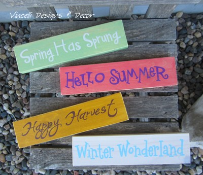 Word Block - Seasons Set of 4