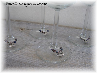 Wine Charms - Set of 4 - Words
