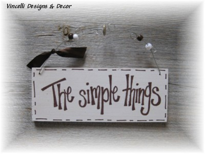 Handpainted Wood Plaque - The Simple Things