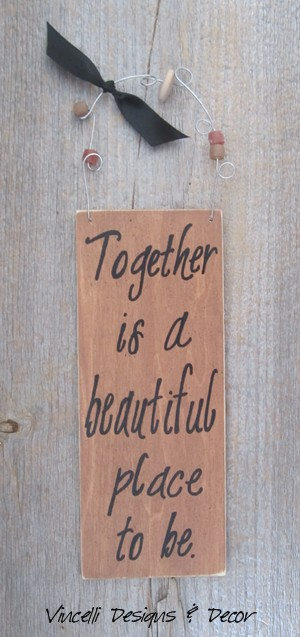 Handpainted Wood Plaque - Together