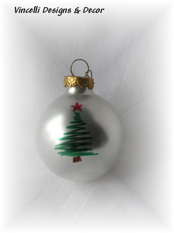 Christmas Tree Ornaments - Set of 4-christmas, christmas tree, stocking stuffer, ornament,