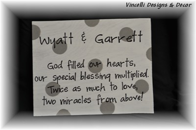 8x10 Wood Plaque - Twins - Two Miracles
