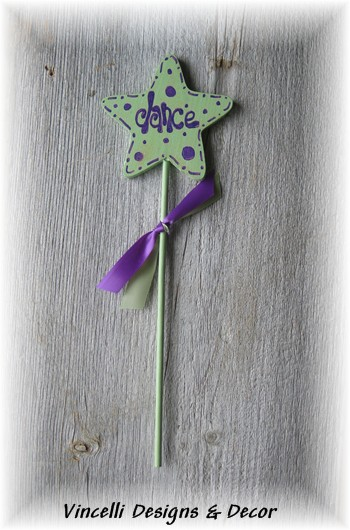 "Child's Wooden Wand - ""Dance""-child, girl, wand, wooden, gift,"