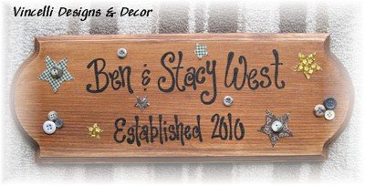 Large Plaque - Couple Established-plaque, handpainted, wood, sign, wedding, anniversary,